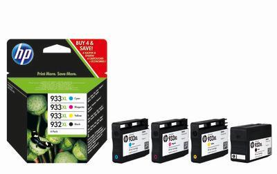 HP 932XL/933XL Tintenpatronen schwarz und dreifarbig